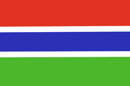 Gambia paper flag. Patriotic background. National flag of Gambia