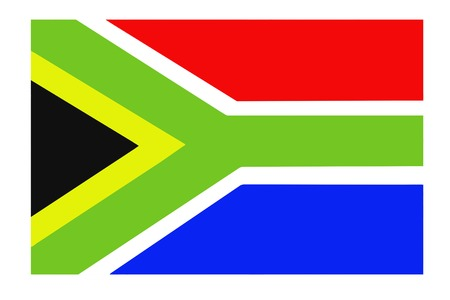 Fabric texture of the flag of South Africa