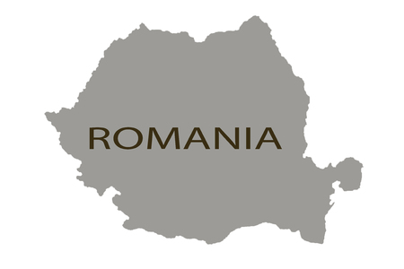 Romania map close up marking nobody pin pinning
