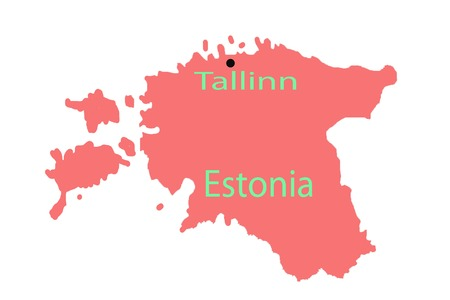 Tallinn pinned on a map of europe international planet