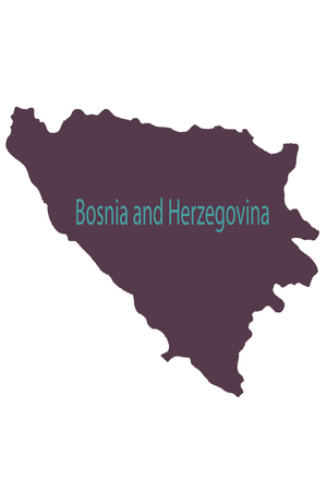 Tuzla pinned on a map of Bosnia and Herzegovina