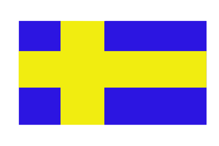 Abstract flag of Sweden closeup colorful dirty fabric