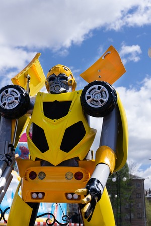 Standee of Movie Bumblebee displays at the theater . Editorial