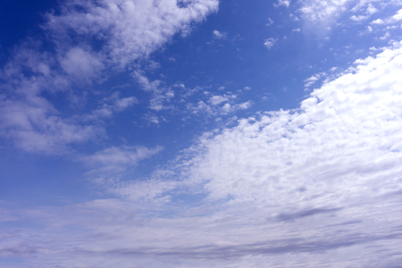 Blue sky with cloud. Clearing day and Good weather in the morning