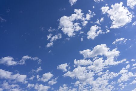 Clouds with blue sky impression environment clear .