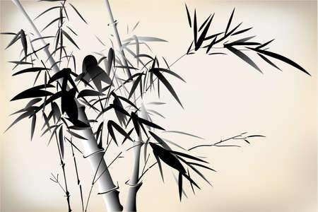 grayscale: Bamboo