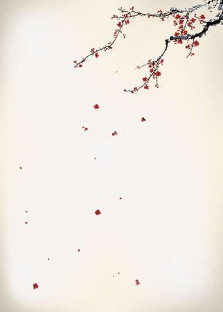 ink winter sweet Vector