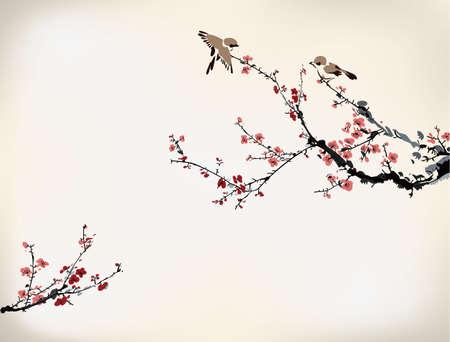 cerezos en flor: invierno tinta dulce