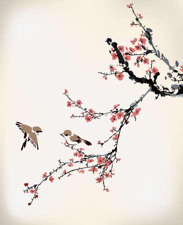 ast: Tinte Winter süß Illustration