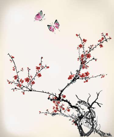 ink sketch: inverno inchiostro dolce Vettoriali