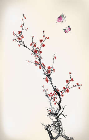 plum blossom: ink winter sweet