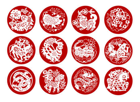 chinese symbol: Animals of Chinese Calendar