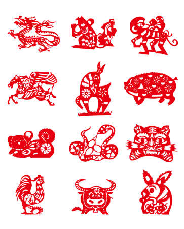 Animals of Chinese Calendar Vector