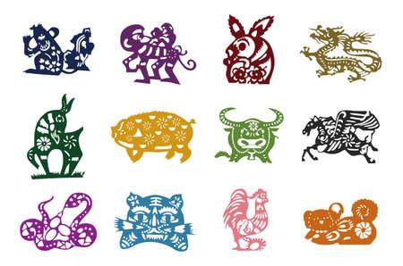 中国のカレンダーの動物