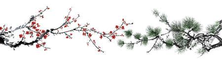 Bamboe en winter zoete Stockfoto - 22222111