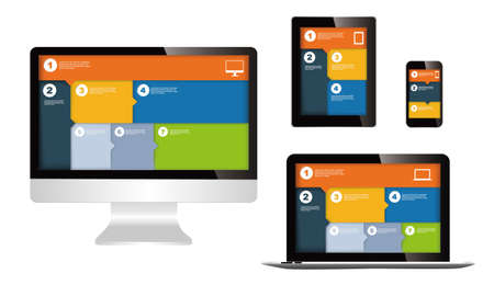 responsive design: responsive web design on different devices