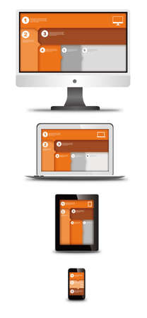 responsive web design on different devices Vector