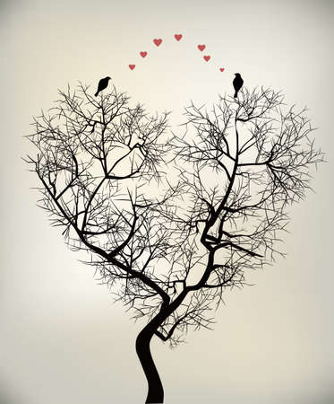 fall in love: birds and tree