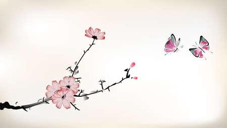 Pintura de la flor Foto de archivo - 22468683