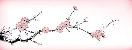 winter cherry: blossom painting