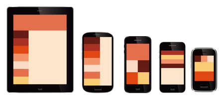 mobile web sites design Vector
