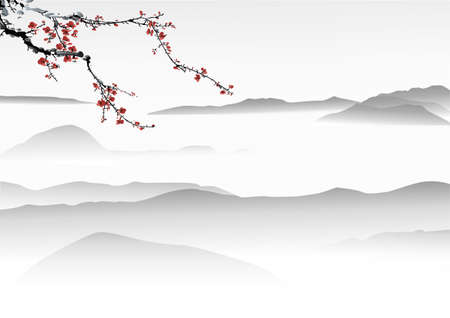 Chinese painting Stock Vector - 23076621