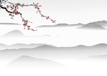 Peinture chinoise Banque d'images - 23076621