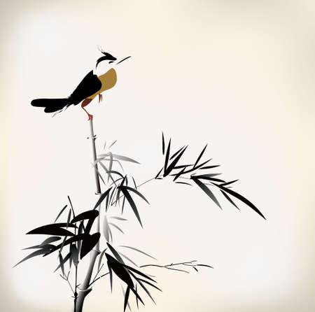 Vogelmalerei Standard-Bild - 24507852