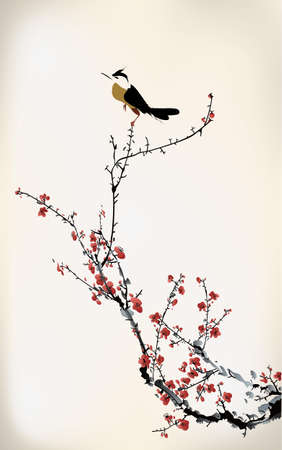 ramal: pintura del p�jaro