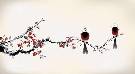 Pintura del pájaro Foto de archivo - 24507854