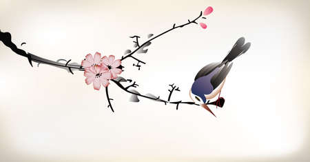 traditional: 鳥の絵画