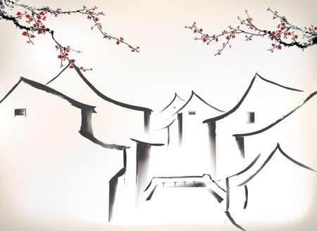 Chinesische Malerei  Standard-Bild - 24507982