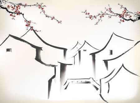 Pintura china  Foto de archivo - 24507982