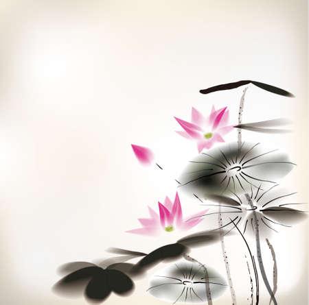 Seerose Malerei Standard-Bild - 24507985