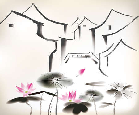 waterlily: chinese painting
