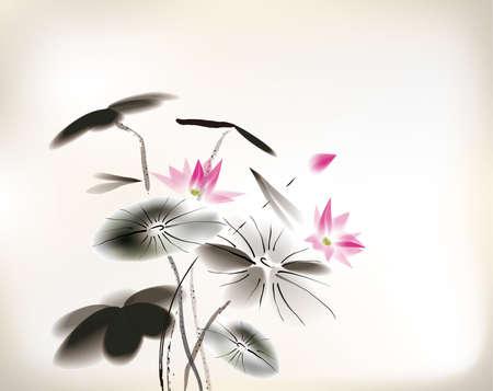 Seerose Malerei Standard-Bild - 24507993