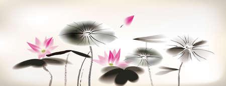 Seerose Malerei Standard-Bild - 24507994