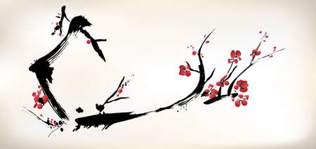 watercolours: blossom painting