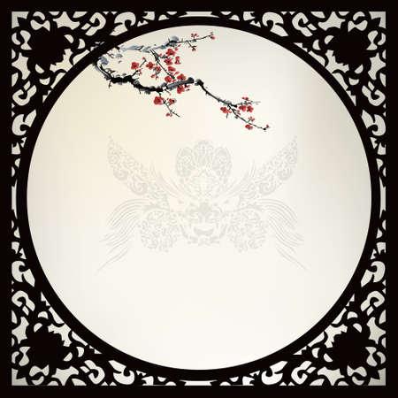 中国パターン背景