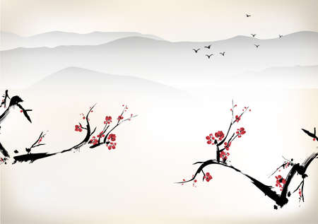 blossom: Chinese painting