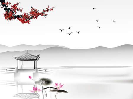Chinesische Malerei Standard-Bild - 26112685