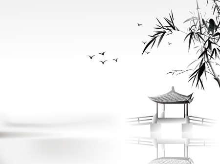 Chinesische Malerei Standard-Bild - 26112852