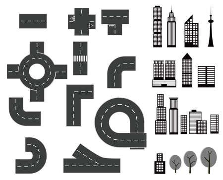 constructor: city elements Illustration