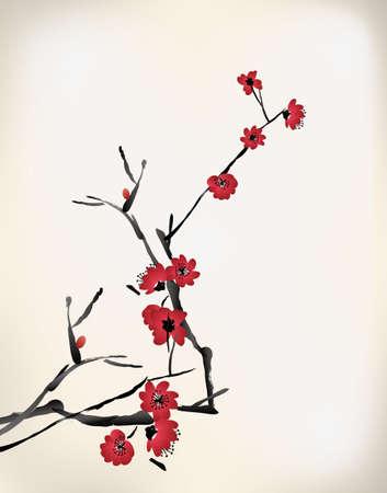 watercolours: pintura flor