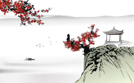 traditional background: Chinese painting