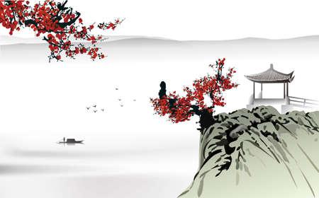 Chinesische Malerei Standard-Bild - 31930072