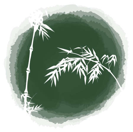 ink drop bamboo Vector