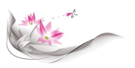 dessin fleur: couleur de l'eau de lotus Illustration