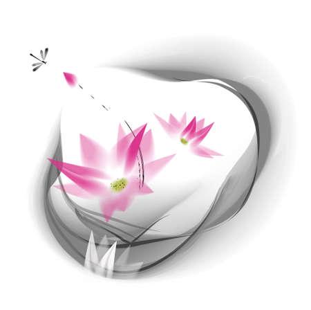 Wasserfarbe Lotus Standard-Bild - 32884778