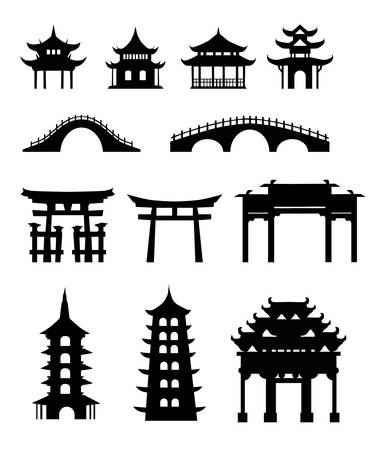 temple tower: Chinese traditional buildings